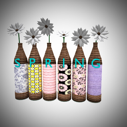 [MO] Re-purposed Bottles – Spring Vases