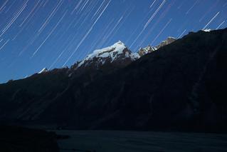 Star Trails Over Liligo Peak, Pakistan