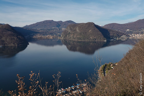 Le Lago di Lugano vu depuis Castellaccio, au-dessus de Casoro (Ticino) (27/12/2018 -01)