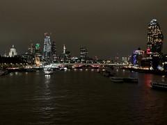 London skyline from Waterloo Bridge