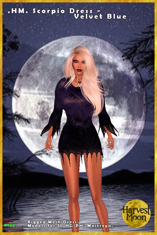 Harvest Moon – Scorpio Dress – Velvet Blue