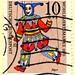 "great stamp Germany 10+5Pf Marionette ""Narr"", marionette ""jester, fool"", (傀儡, marionnette, la marioneta, пе́шка, marionetta, marionetka; Bufón, Le bouffon, fou du roi, giullare, 弄臣 , Udvari bolondok, Шут, )  timbre Allemangne 우표 독일 유럽 sellos Alemania selo"
