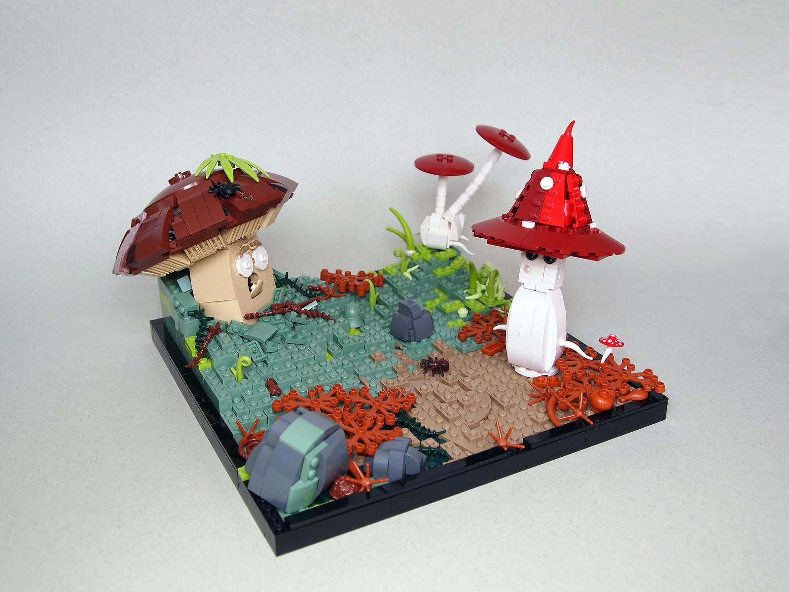 лего самоделка грибы