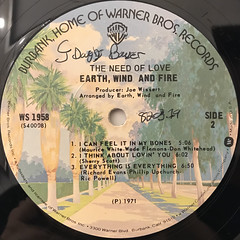 EARTH, WID AND FIRE:THE NEED OF LOVE(LABEL SIDE-B)