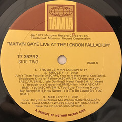 MARVIN GAYE:LIVE AT THE LONDON PALLADIUM(LABEL SIDE-B)