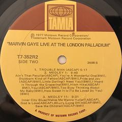 MARVIN GAYE:LIVE AT THE LONDON PALLADIUM(LABEL SIDE-B)