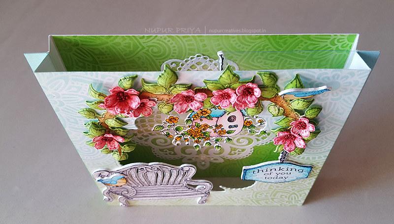 Cherry Blossom Box Card 10_Nupur Creatives