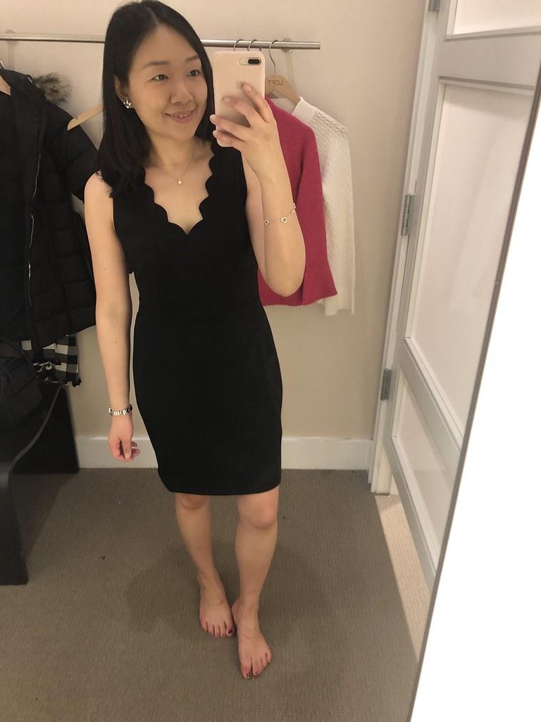 LOFT Scalloped Sheath Dress, size 0P