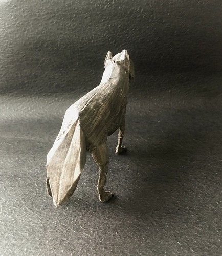 Gray Wolf by Shuki Kato Dó handmade paper  39x39cm