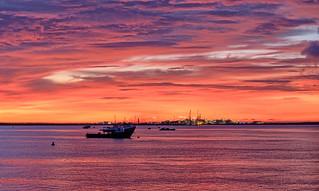 Darwin Harbour Industrial Dawn, Darwin, NT, Australia