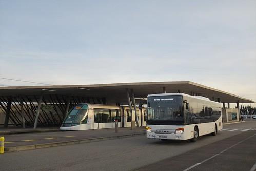 Setra S 415 LE Business & Alstom Citadis 403 n°2005  -  Strasbourg, CTS