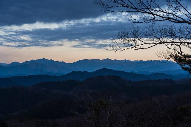 川苔山、長沢背稜方面