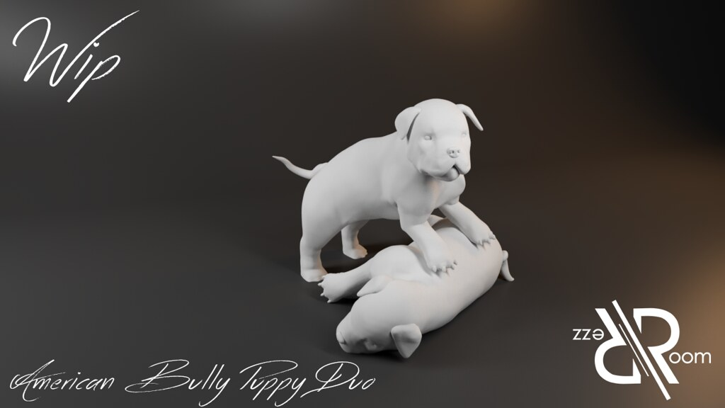 American Bully Puppy Duo
