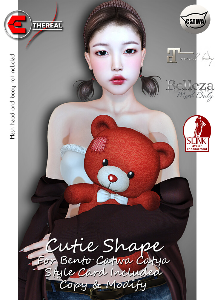Cutie Shape For Bento Catwa Catya . - TeleportHub.com Live!