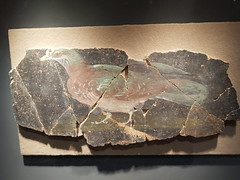 First century painting of a pigeon, eastern entrance to Jublains temple