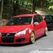 Red VW Golf Mk5 GTI