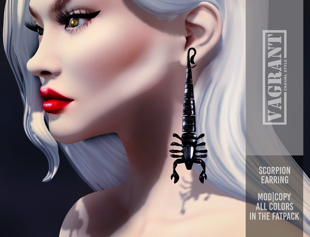 -[ vagrant ]- Scorpion Earring @Shiny Shabby – February 2019