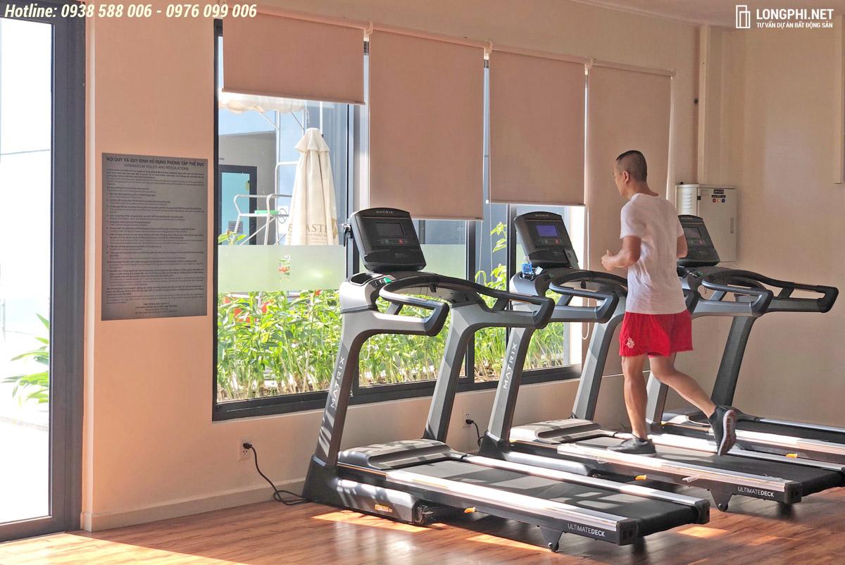 Khu tập thể dục tại phòng GYM trong dự án M-One Nam Sài Gòn quận 7.