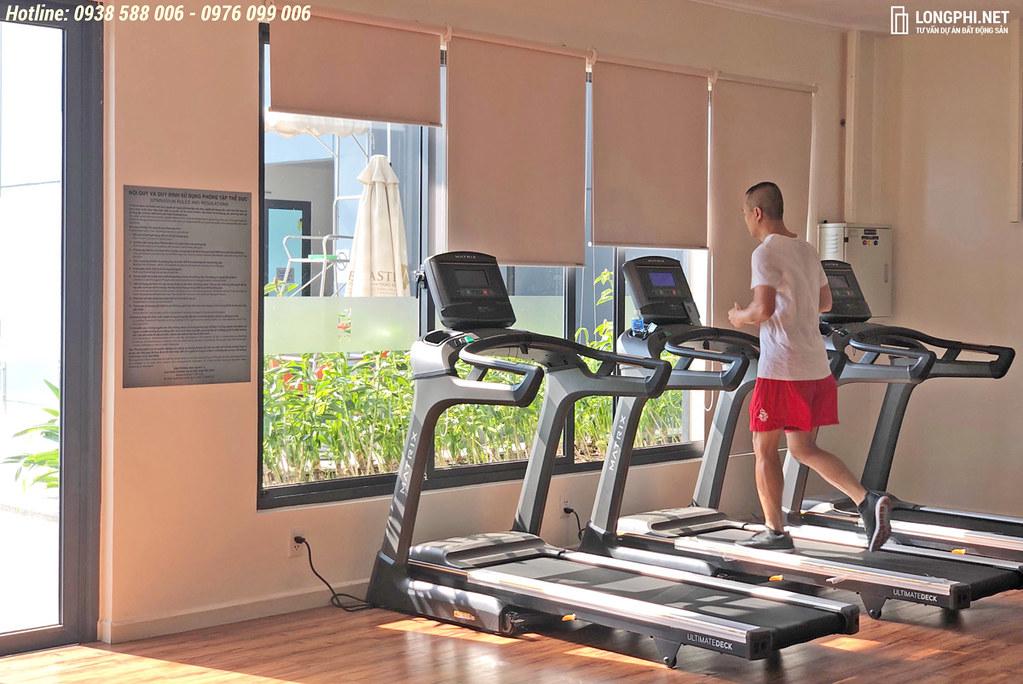 Phòng tập gym trong căn hộ m-one quận 7.