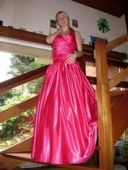 Shiny satin ballgown