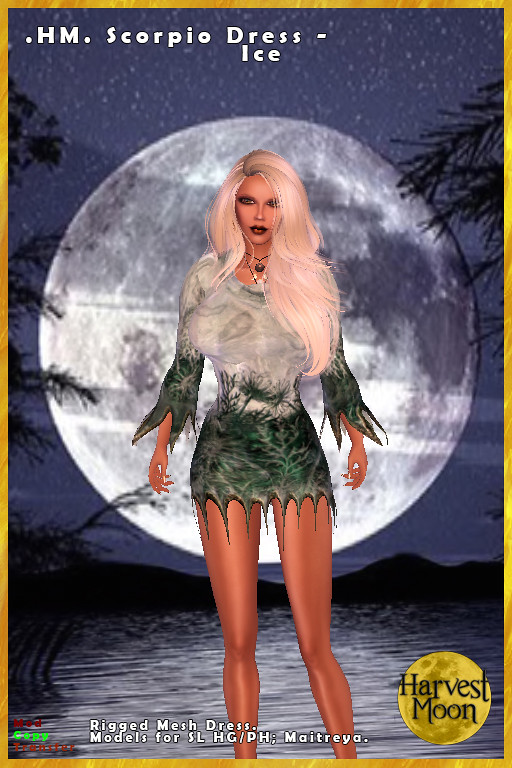 Harvest Moon - Scorpio Dress - Ice - TeleportHub.com Live!