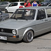 Silver VW Golf MK1
