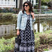 black and white maxi dress, denim jacket, white mules, straw bag-11.jpg