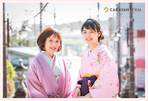 大学卒業記念のロケーションフォト♪お母さまもご一緒に 深川神社 愛知県瀬戸市