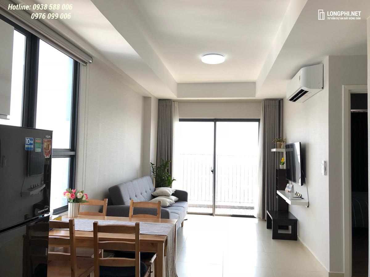 Phòng khách căn hộ M-One cho thuê.