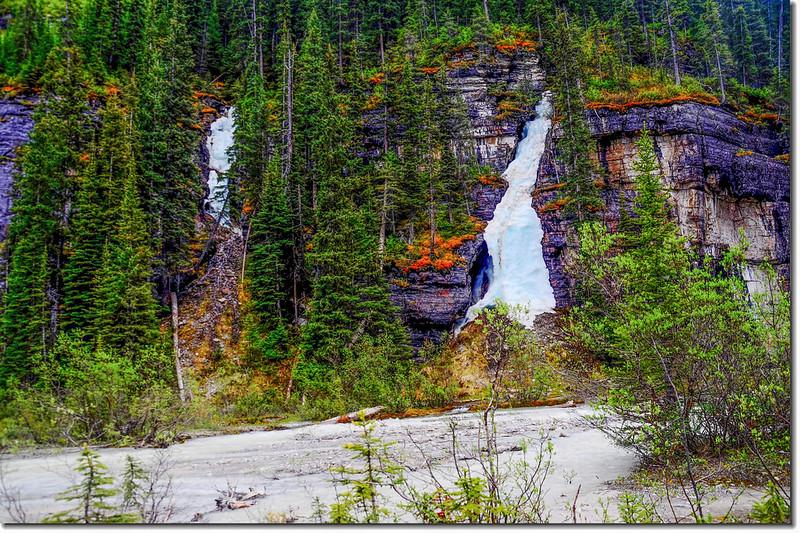 Frozen Falls Behind Lake Louise