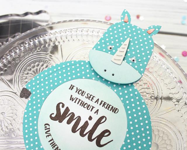 LizzieJones_PapertreyInk_January2019_PotbelliesUnicorn_EverydayPotbellies_RhinoSmileCard2