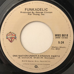 FUNKADELIC:ONE NATION UNDER A GROOVE(LABEL SIDE-B)