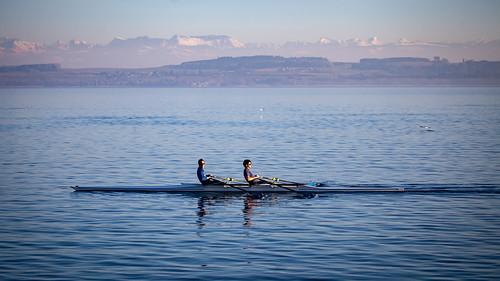 Entrainement sur le lac