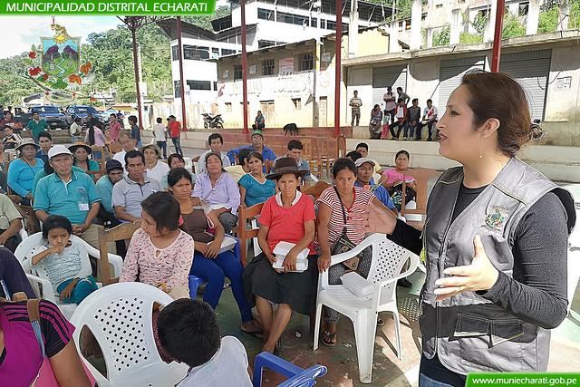 Pobladores de las 5 zonales de Echarati tendrán la oportunidad de proveer a la Municipalidad