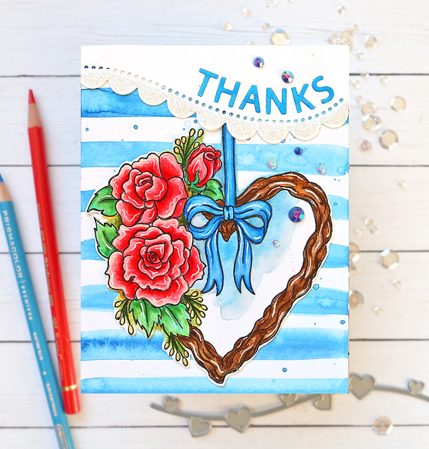 Valentine's Day Watercolor Card 8