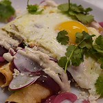 Sunday Brunch 9am-3pm ~ 401-831-3733 For Reservations | : Pulled Barbacoa Chicken, Roasted Peppers & Onions, & Shredded Cheddar Filled | Enchilada Sauce | Lime Cumin Crema | Thinly Sliced Radish & Jalapeño | Cilantro | Pickled Red Onion | Queso Fresco | @