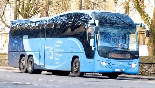 XX64 WCZ 'Stagecoach East' No. 54315 'X5'. Volvo B11R / Plaxton Elite. on Dennis Basford's railsroadsrunways.blogspot.co.uk'