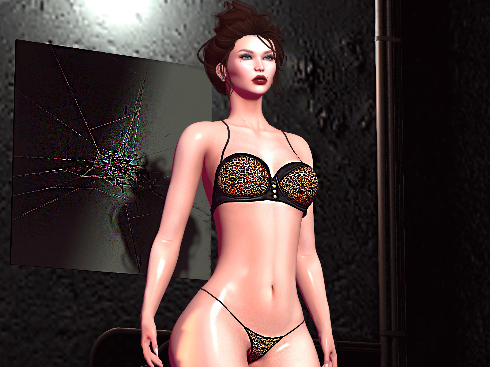 HEC – Fashion present LORA Animal-Print Lingerie Set