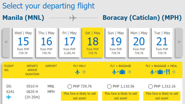 Cebu Pacific Snap Sale Manila to Boracay