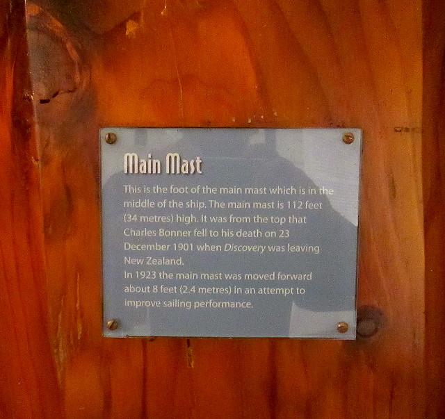 Plaque on Main Mast RRS Discovery, Dundee