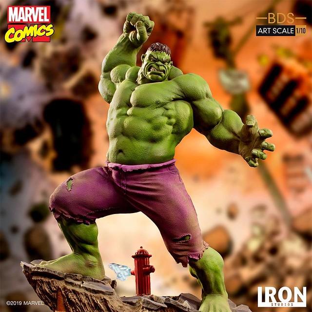 """Hulk Smash!"" Iron Studios Battle Diorama 系列 Marvel Comics【浩克】Hulk 1/10 比例決鬥場景雕像作品"