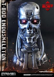 Prime 1 Studio《魔鬼終結者》T-800 內骨骼 T-800 エンドスケルトン ヘッド HDBT1-01 1/2 比例頭像作品