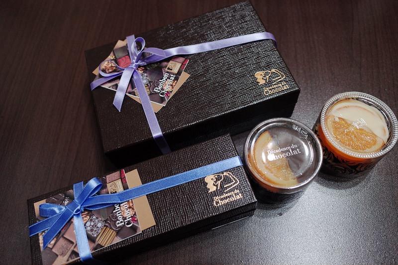 銀座一丁目Decadence du Chocolatボンボンショコラ バレンシアパッケージ