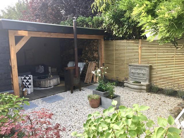 Overkapping landelijke tuin