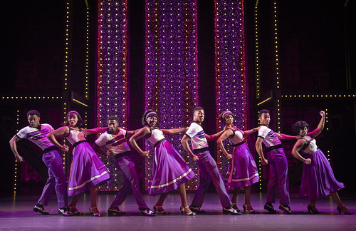 """The Locomotion."" The Touring Cast of Beautiful – The Carole King Musical. From Why You Should See Beautiful–The Carole King Musical. Photo courtesy and copyright by Joan Marcus, used with permission"