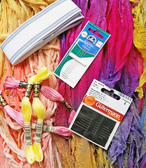embroidery supplies.