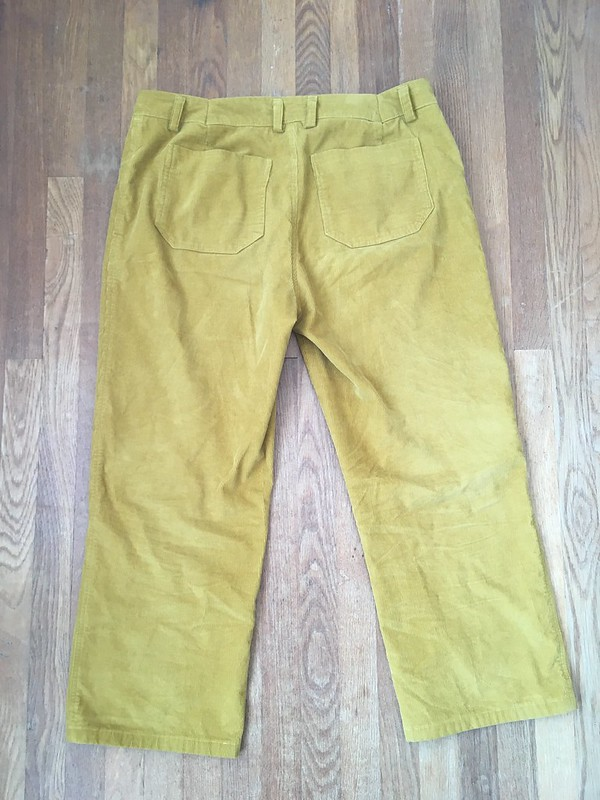 Jutland Pants for Me in Yellow Corduroy