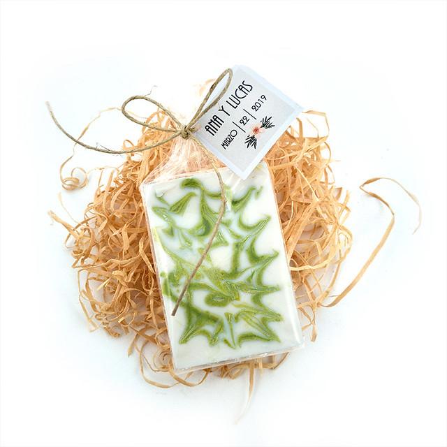 Jabón artesanal de Aloe Vera personalizado