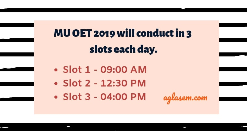 MU OET (MET) 2019 Slot Booking Starts From 04 April