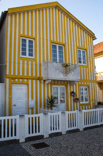 The Yellow Striped House